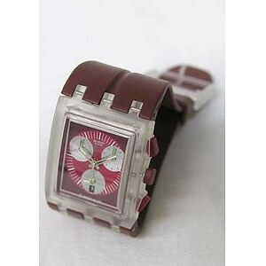Swatch Uhr Square Chrono SUEK 401 Red Round - 05703