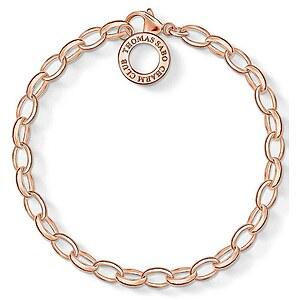 Thomas Sabo X0031-415-12-S Silber Charm-Armband rosé 16 cm