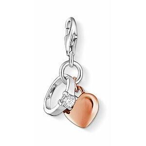 Thomas Sabo CC 1000 Anhänger CHARM CLUB Ring Herz rosé
