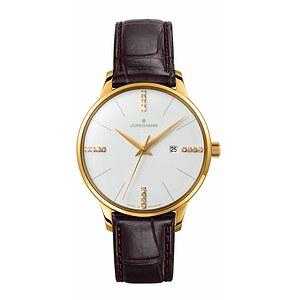 Junghans Uhren 047/7374.00 Damen Meister Diamanten goldplattiert
