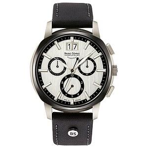 Bruno Söhnle Glashütte Uhren-Serie 17-73166-247 Herrenuhr mit Grossdatum und Chronograph der Serie Facetta