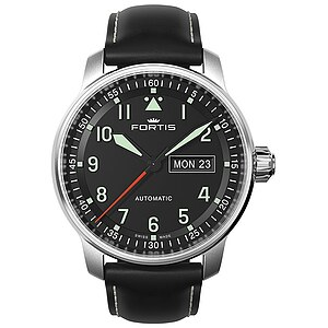 Fortis 704.21.11 Uhren Serie Flieger Professional Automatic  Lederband - 10241