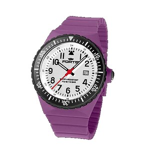 Fortis Uhren Colors Referenz 705 mit 99.900.14.14 Wechselband lila - 10497