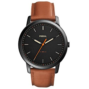 Fossil Men´s Casual THE MINIMALIST Herrenuhr FS5305 in Edelstahl aus der Uhren-Serie THE MINIMALIST