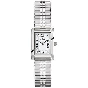 Dugena Quadra Comfort Zugband aus der Uhrenserie Basic Damenarmbanduhr 4460759 Zugband