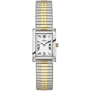 Dugena Quadra Comfort Zugband aus der Uhrenserie Basic Damenarmbanduhr 4460760 Zugband
