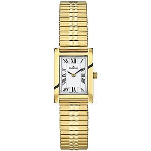 Dugena Quadra Comfort Zugband aus der Uhrenserie Basic Damenarmbanduhr 4460761 Zugband