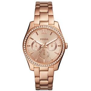 Fossil Damenuhr Scarlette ES4315 - Multifunktion - Edelstahl - Roségoldfarben der Uhren-Serie Scarlette
