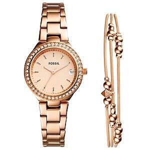 Fossil Armband und Damenuhr Set Blane ES4337SET aus der Uhren-Kollektion Dress
