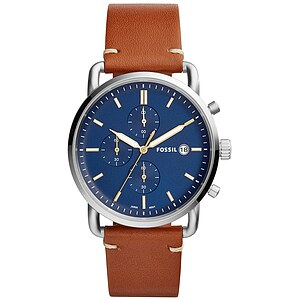 Fossil Herrenuhr THE COMMUTER Chronograph FS5401 in Edelstahl aus der Uhren-Serie THE COMMUTER