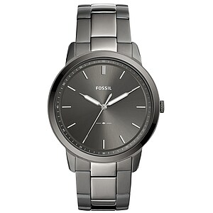 Fossil Men´s Casual THE MINIMALIST Herrenuhr FS5459 in Edelstahl aus der Uhren-Serie THE MINIMALIST