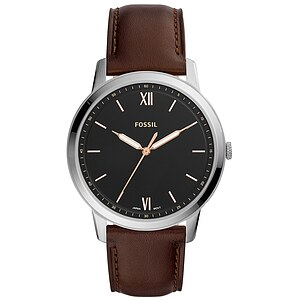 Fossil Men´s Casual THE MINIMALIST Herrenuhr FS5464 in Edelstahl aus der Uhren-Serie THE MINIMALIST