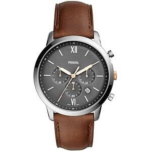 Fossil Herrenuhr Neutra FS5408 - Chronograph - Leder - Braun der Uhrenserie Neutra