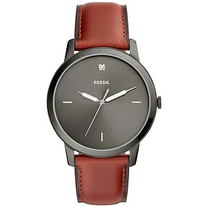 Fossil Men´s Casual THE MINIMALIST Herrenuhr FS5479 in Edelstahl plattiert aus der Uhren-Serie THE MINIMALIST