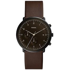 Fossil Herrenuhr Chase Timer FS5485 - Chronograph - Leder - Dunkelbraun der Uhrenserie Chase Timer