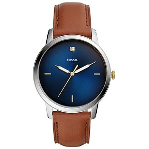 Fossil Men´s Casual THE MINIMALIST Herrenuhr FS5499 in Edelstahl aus der Uhren-Serie THE MINIMALIST