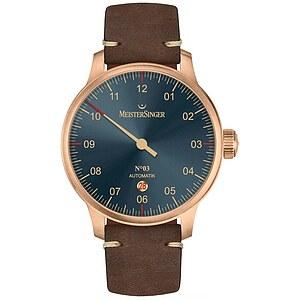 Meistersinger AM917BR der Uhren-Serie N°03 Automatik - Die Einzeigeruhr - Bronze-Line