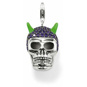 Thomas Sabo T0280-041-13 Rebel at Heart Anhänger Totenkopf Pavé amethyst - 21700