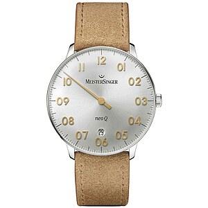 Meistersinger NQ901GN der Uhren-Serie NEO 1ZQ Damen Einzeigeruhr silber