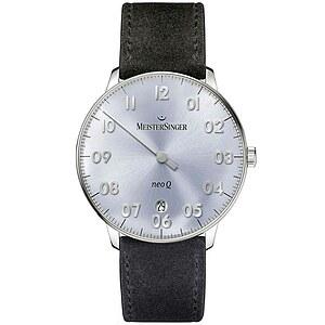 Meistersinger NQ908N der Uhren-Serie NEO 1ZQ  Damen Einzeigeruhr bleu