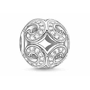 Thomas Sabo K0012-051-14 KARMA BEADS Silver Bead Glitzernde Welle - 23438