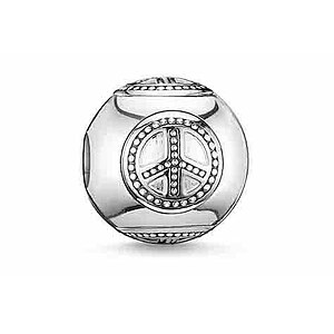 Thomas Sabo K0032-001-12 KARMA BEADS Silver Bead Frieden - 23458