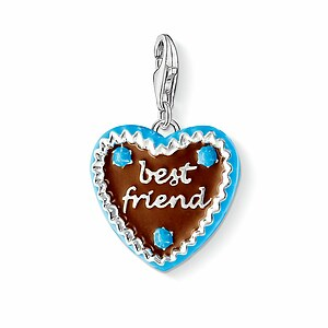 Thomas Sabo CC 1099-007-2 Anhänger Gingerbread Heart CHARM CLUB Lebkuchenherz - best friend - 23644