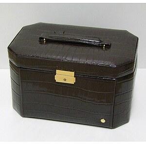 Leder-Schmuckkoffer Jewellery Case Claire braun 324219