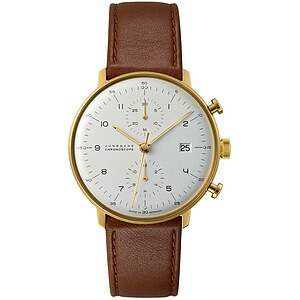 max bill 027/7800.00 by Junghans Chronoscope vergoldet - 24907