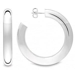 Quinn 036 3665 Essential Silber Creolen Lense