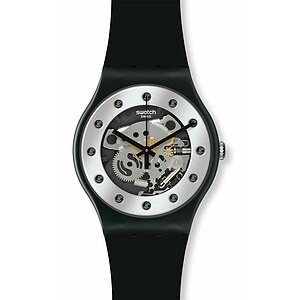 Swatch Uhr SUOZ 147 Seasons Special Sparkling Circle New Gent Silver Glam - 26347