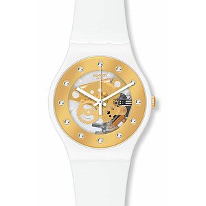 Swatch Uhr SUOZ 148 Seasons Special Sparkling Circle New Gent Sunray Glam