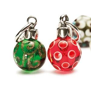 Trollbeads SC63704 das Original - Christmas Ornaments Glas Weihnachtskugel-3er-Set
