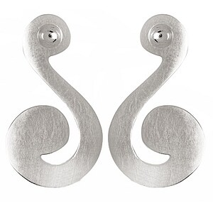 Bastian 9363 Inverun Earrings Silber Ohrstecker kratzmatt