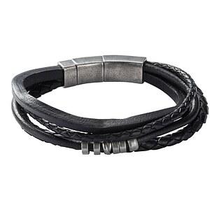 Fossil JF85299 Herren Armkette Leder