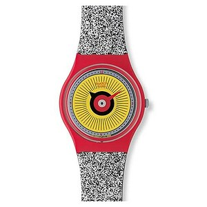 Swatch Uhr GR 153 Colour Codes Gent Artist Gary Card Radio Button - 28193
