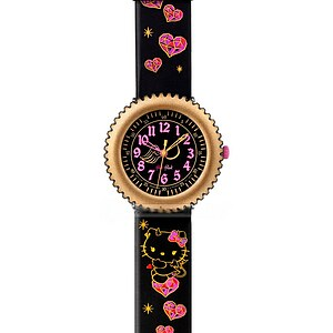 Flik Flak Uhren FFL006 Full-Size Scuba (7+) Sanrio Hello Kitty DEVILISH limitierte Edition