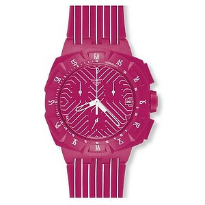 Swatch SUIP 401 Chronograph Plastic Pink Run - 28730