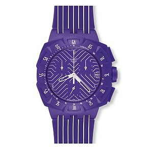 Swatch SUIV 401 Chronograph Plastic Purple Run - 28731