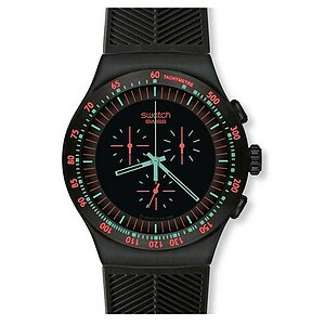 Swatch Uhr YOB 105 Black Collection Irony The Chrono Mint in Dark - 29214