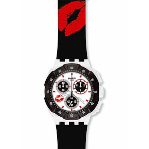Swatch SUKW 100 Chrono Plastic Snowpass TTR Art Rules Snowkiss - 29215