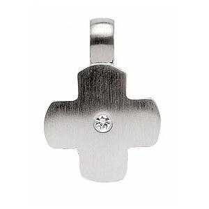 Bastian 17.0241.1001 Inverun Pendant Silber Anhänger Kreuz diamantverziert