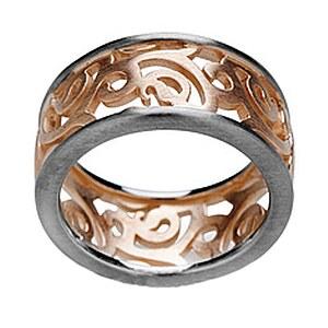 Bastian 9578 Inverun Silber Ring teilvergoldet
