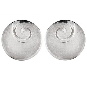 Bastian 9552 Inverun Earrings Silber Ohrclip kratzmatt