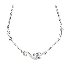 Bastian 9546 Inverun Silber Necklace Collierkette diamantverziert - 29513
