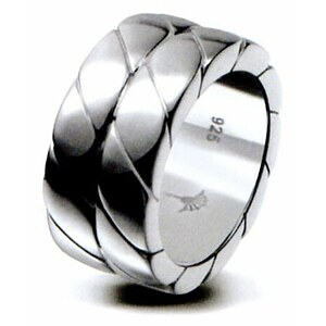 JOOP! JPRG90508A Jewellery MEN Silber-Ring Braided