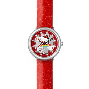 Flik Flak Uhren FFL017 Kinderuhr Full-Size Girl (7+) Hello Kitty Red Rainbow - 29657