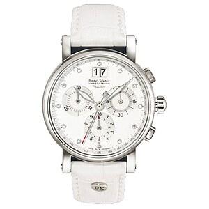 Bruno Söhnle Glashütte Uhren 17-13115-251 (7.1115.251) Damenchronograph Armida weiß
