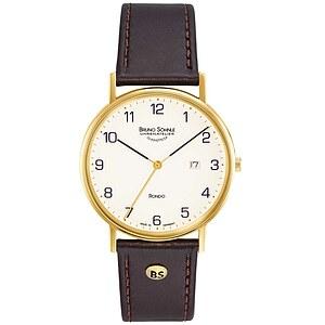 Bruno Söhnle Glashütte Uhren 17-33105-921 (7.3105.921) Herrenuhr Rondo vergoldet
