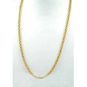 Drachenfels Design Silber-Erbskette D KE 55 AGG goldfarben plattiert 75cm